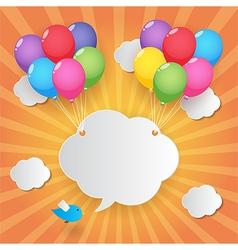 balloon sky background vector image