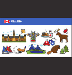 canada travel destination advertisement with vector image vector image