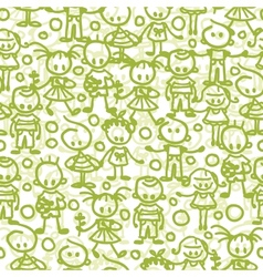 Children playing seamless pattern background vector image vector image