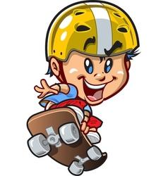 Cool Little Skateboard Guy vector image vector image
