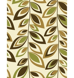Retro leaves - Seamless background vector image vector image