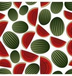 colorful melon fruits and half fruits seamless vector image vector image