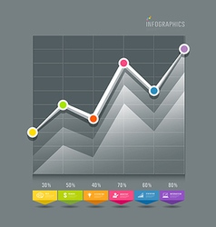Modern graphs info-graphic and icons vector