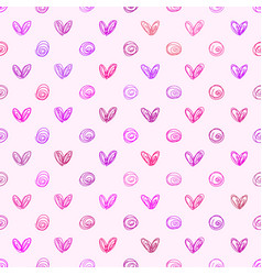 abstract background seamless hand drawn heart vector image