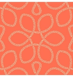 Abstract rope knot seamless pattern vector