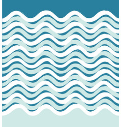 Abstract sea wave seamless pattern wavy stripe vector