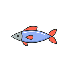 Allergy reaction to dish raw cooked fish icon vector