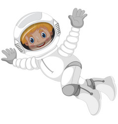 An astronaut character on white background vector