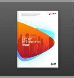 Annual report brochure cover design template vector