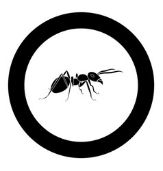 Ant icon black color in circle vector