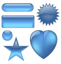 Aqua Buttons vector image