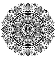 Beautiful filigree indian floral ornament ethnic vector