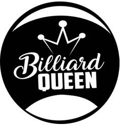 Billiard queen on white background vector