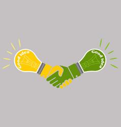 business good idea deal concept vector image