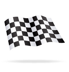 Chequered checkered racing flag flying vector
