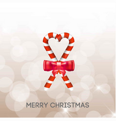 christmas greetings card with candy vector image