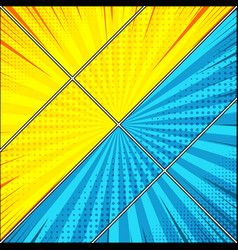 comic diagonal confrontation background vector image