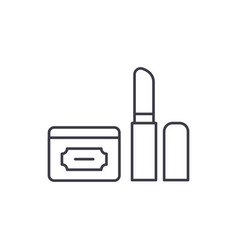 cosmetics line icon concept cosmetics vector image