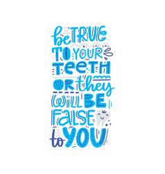Dental lettering design vector