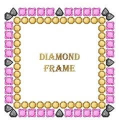 Diamond square frame vector