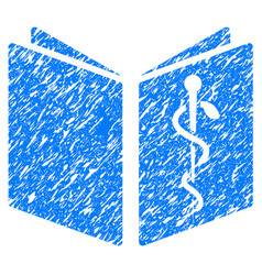 Drug handbook grunge icon vector
