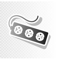 electric extension plug sign new year vector image
