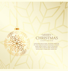 Elegant christmas background with hanging golden vector