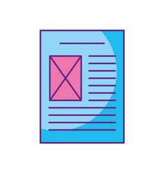 file paper document icon vector image