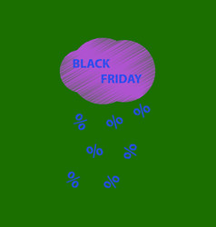Flat shading style icon black friday discounts vector