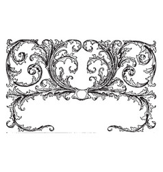 Floral motif is a tailpiece vintage engraving vector