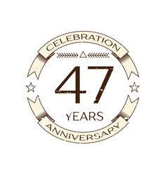 Forty seven years anniversary celebration logo vector