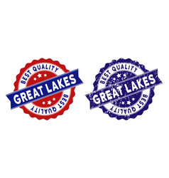 Great lakes best quality stamp with dirty texture vector
