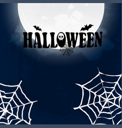 halloween party design with creative design vector image