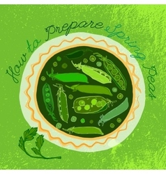 Hand Drawn Peas 01 A vector image