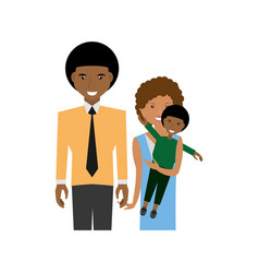 Happy afro family love members vector