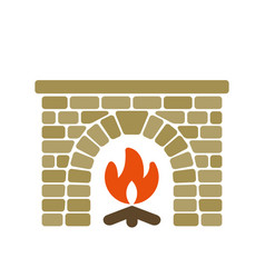 Home fireplace vector