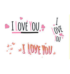 i love youheartfashion funny slogan with a vector image