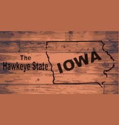 Iowa map brand vector