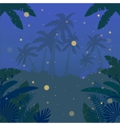 Jungle Flat Background19 vector