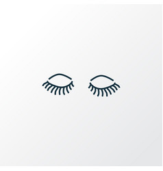 lashes icon line symbol premium quality isolated vector image