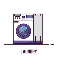 laundry machine vector image