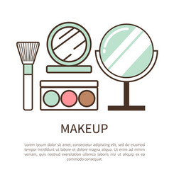 Makeup poster with text vector