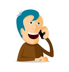 Man on the phone vector