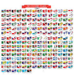 Map marker with flags 10eps vector