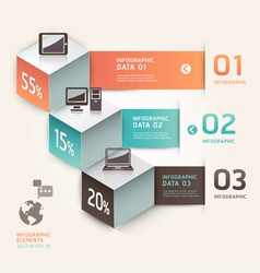 Modern infographics communication technology vector