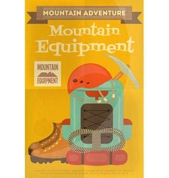 Mountains equipment vector