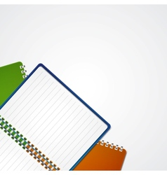 Open notebook vector image