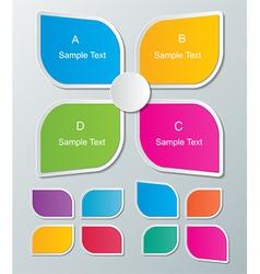 Paper infographics vector