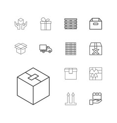 Parcel icons vector