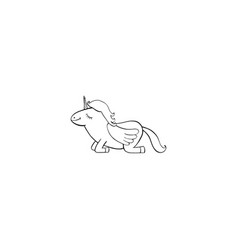 pegasus cartoon icon vector image